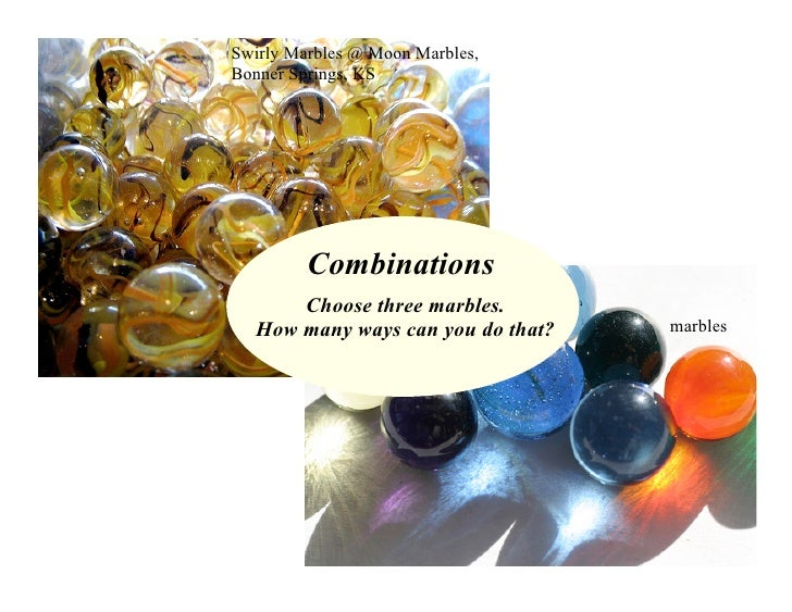 Swirly Marbles @ Moon Marbles, Bonner Springs, KS              Combinations       Choose three marbles.                   ...