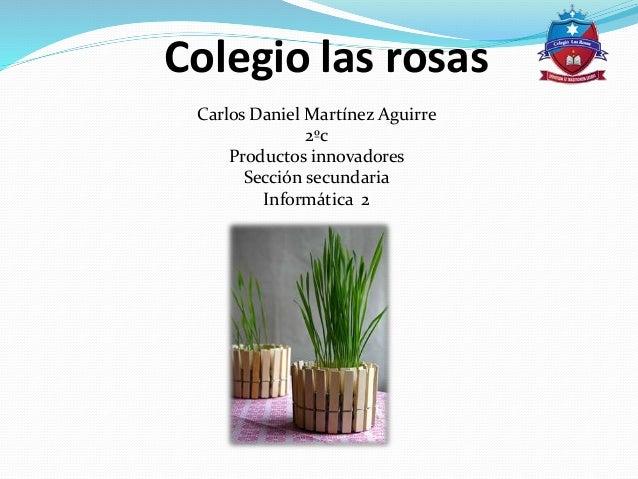 Colegio las rosas Carlos Daniel Martínez Aguirre 2ºc Productos innovadores Sección secundaria Informática 2