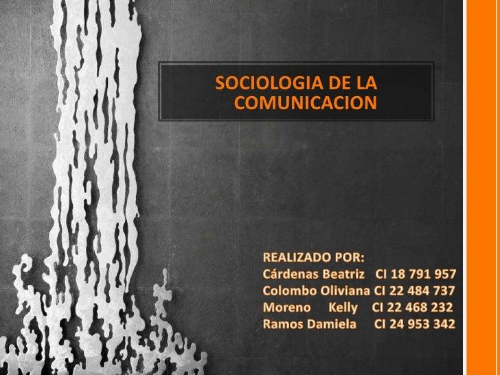 Precentacion de expocision de sociologia