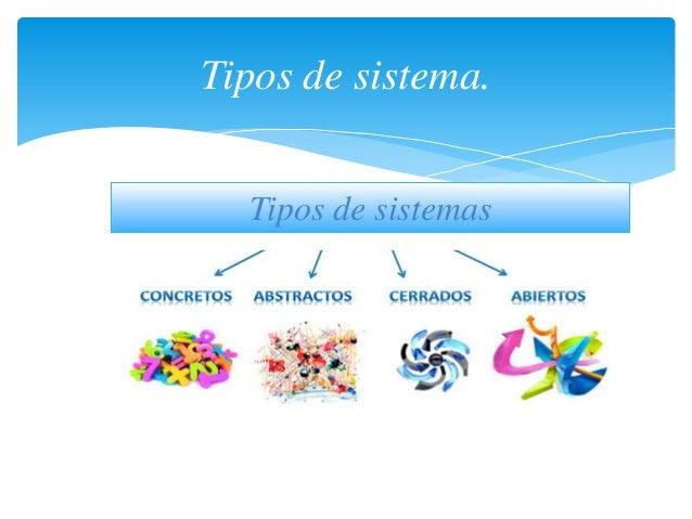 Tipos de sistema. Tipos de sistemas