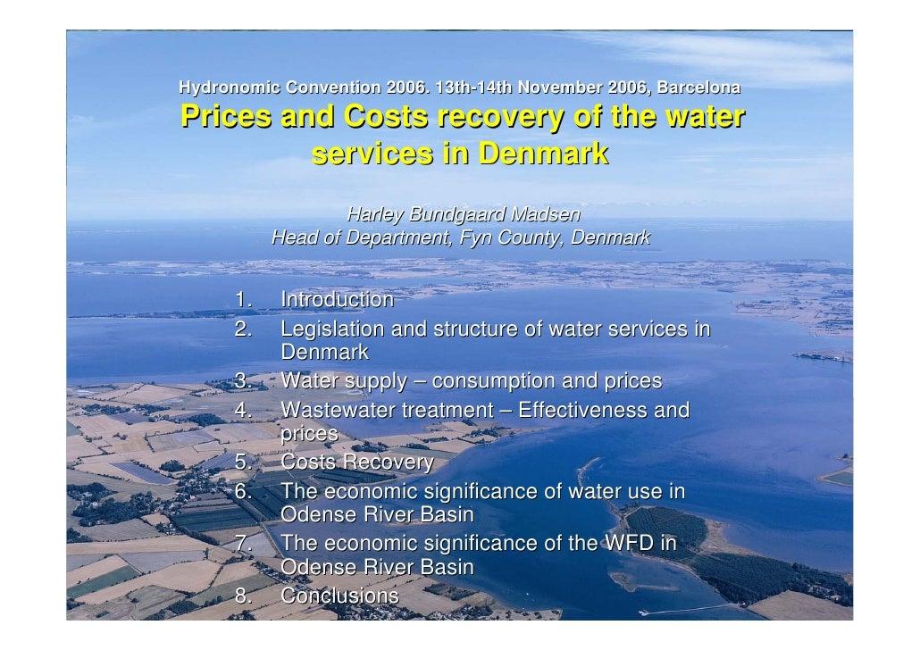 Precios y Costes de los Servicios del Agua en Dinamarca