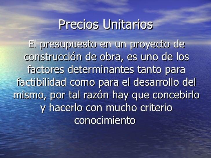Precios unitarios 2010 idql