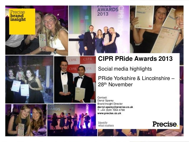 CIPR Pride Awards Yorkshire and Lincolnshire