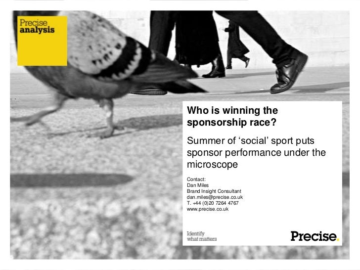 Sponsorship insights from our Golden Summer of Sport