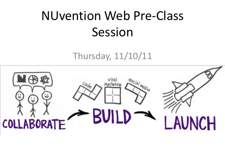 NUvention Web Pre-Class        Session     Thursday, 11/10/11