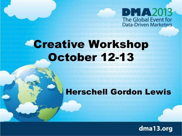 Creative Workshop October 12-13