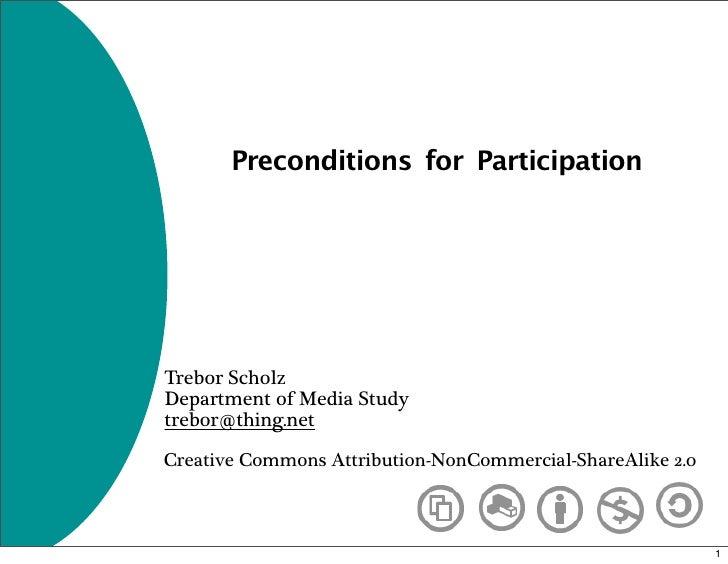 Preconditions for Participation