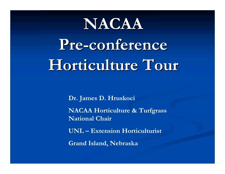 Pre-conference Horticulture Tour