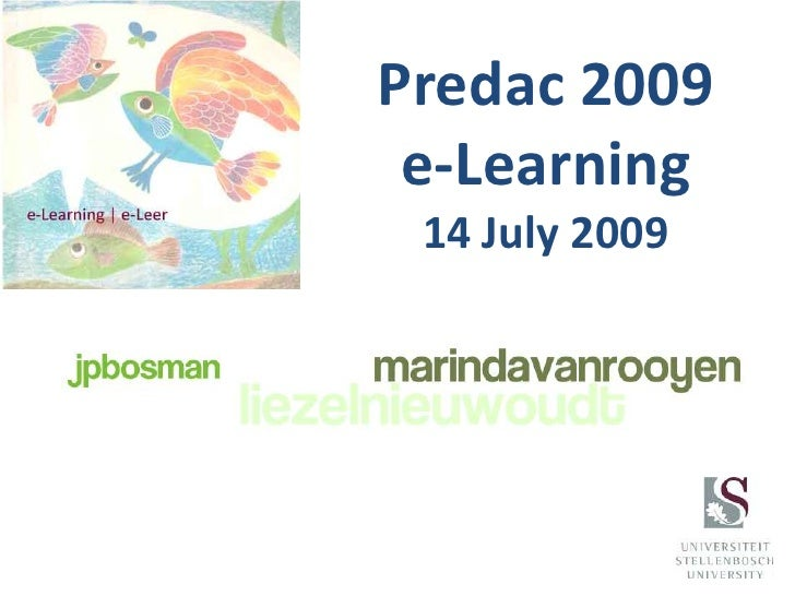Predac2009e-Learning14 July 2009<br />