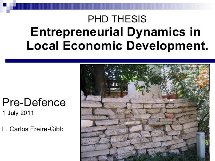 Entrepreneurship Education Phd Thesis