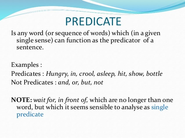 Predicate  Definition for EnglishLanguage Learners from