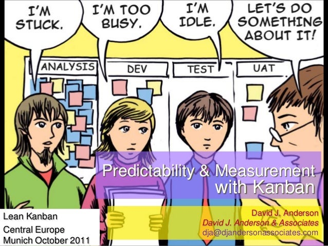 Predictability & Measurement  with Kanban Lean Kanban Central Europe Munich October 2011  David J. Anderson David J. Ander...