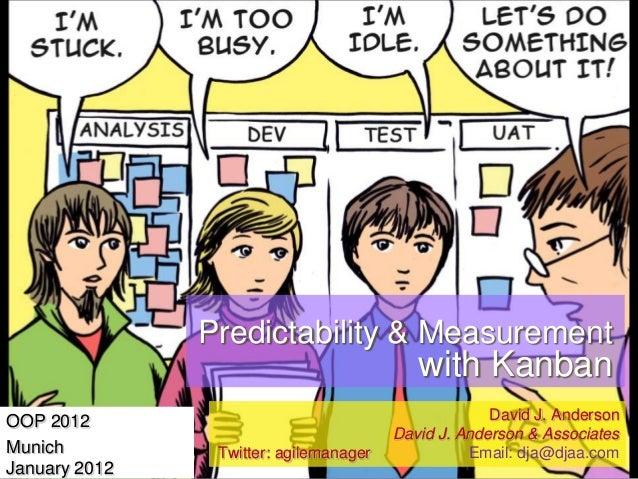 OOP 2012 - Predictability & Meansurement with Kanban