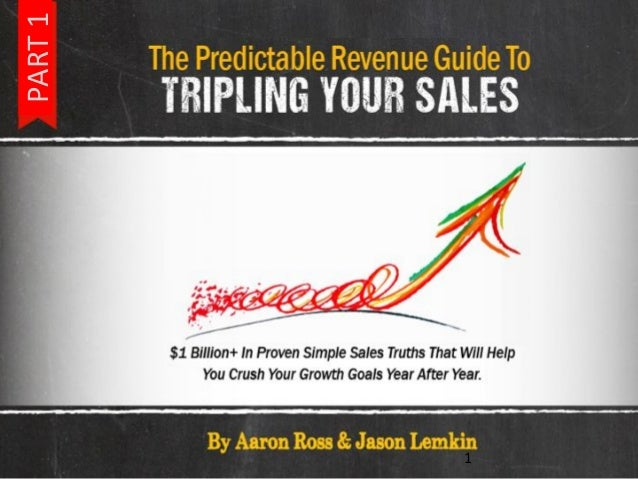 The Predictable Revenue Guide to Tripling your Sales