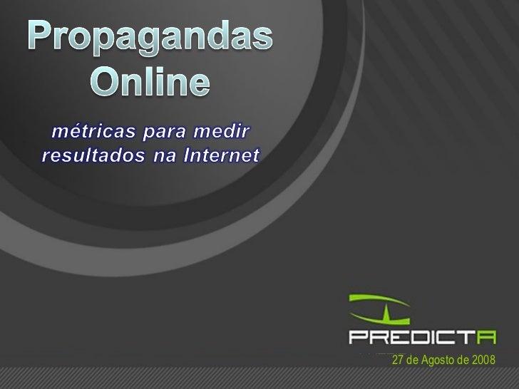 Propagandas na Internet