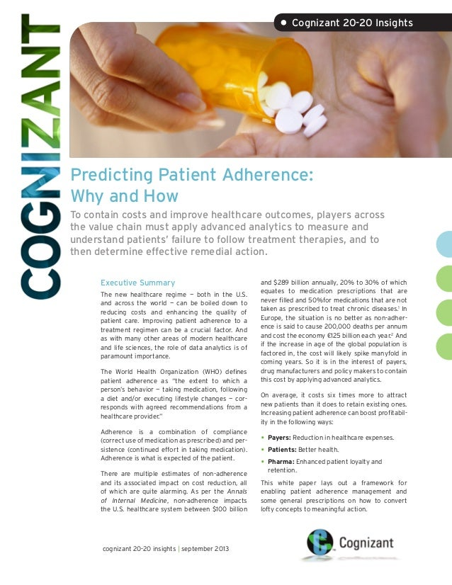 Predicting Patient Adherence: Why and How