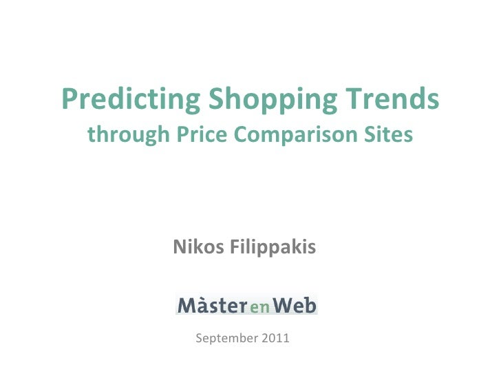 Predicting Shopping Trends