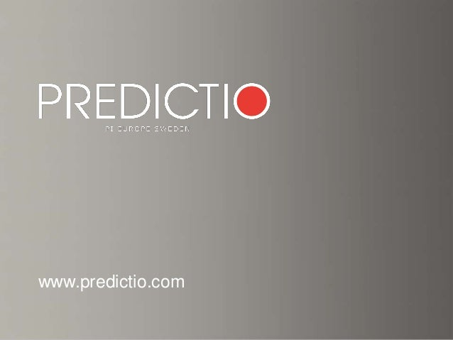 Predictio & PI Europe Sweden Business Presentation