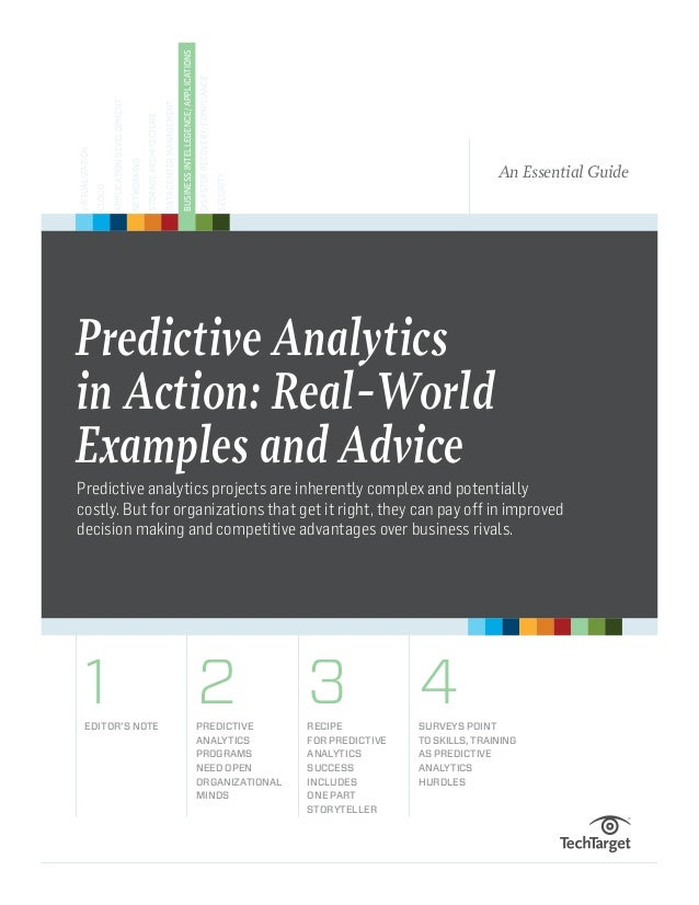 Predictive analytics in action real-world examples and advice