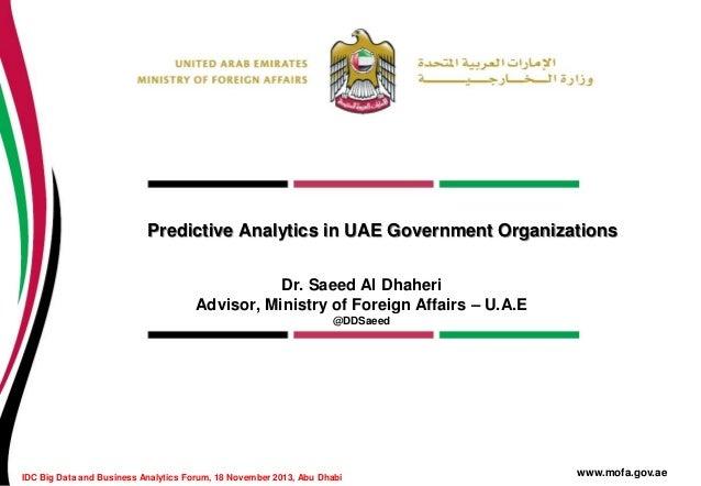 Predictive analytics in uae government organizations