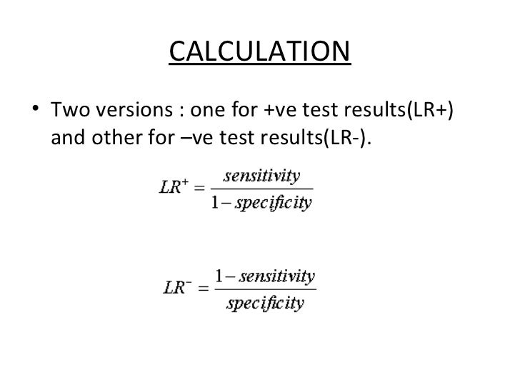 Predictive value and likelihood ratio