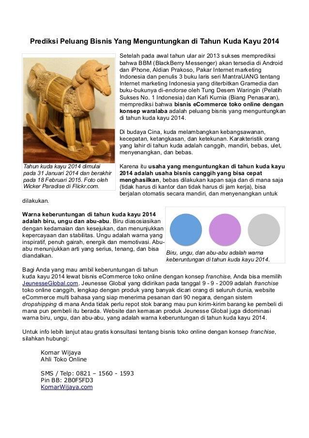 Prediksi bisnis di tahun kuda kayu 2014