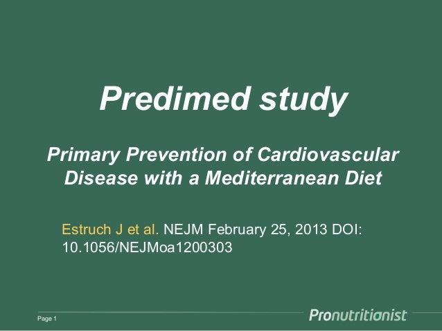 Predimed Study | Cardiovascular Diseases | Coronary Artery ...