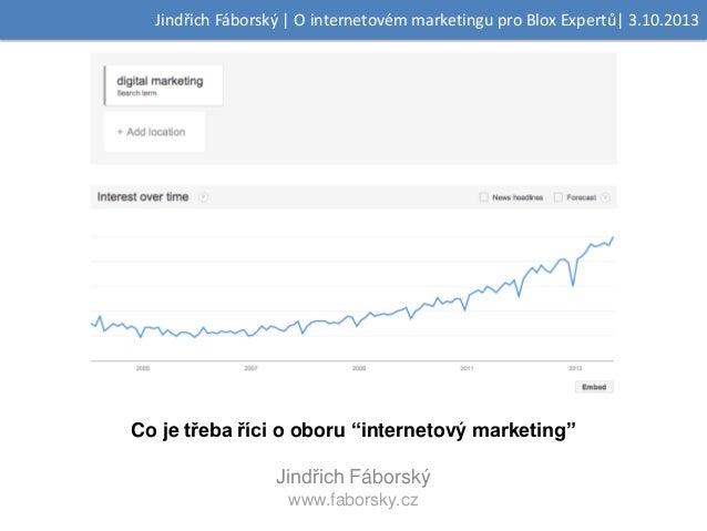 O internetovém marketingu pro studenty MU - Blox expertů 10/2013
