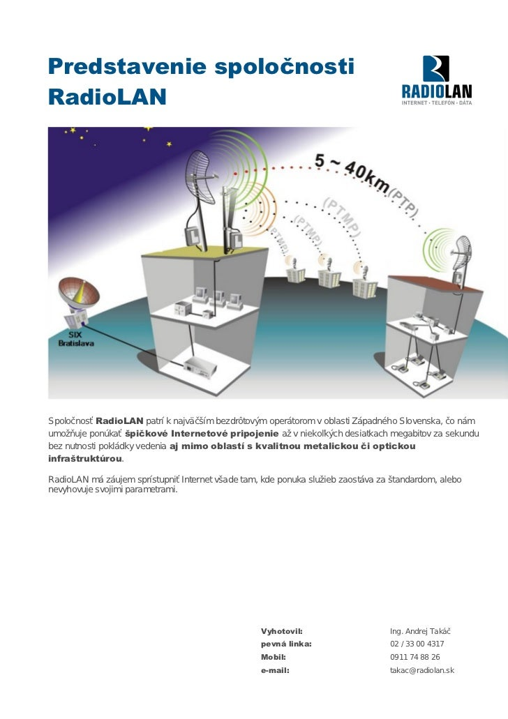 Predstavenie Spolocnosti RadioLAN