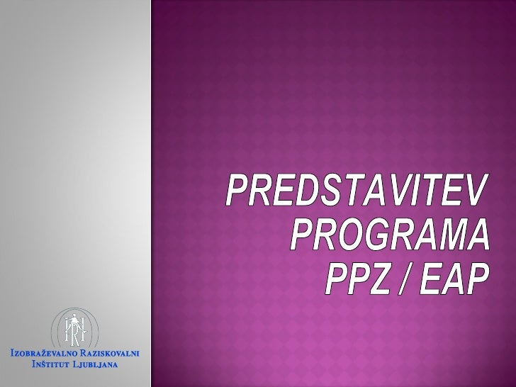 Predstavitev ppz eap_iri_lj