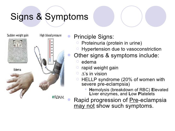 the signs symptoms and management of pre eclampsia What is preeclampsia preeclampsia is a pregnancy condition that can be tested for and diagnosed early learn the signs and symptoms, such.