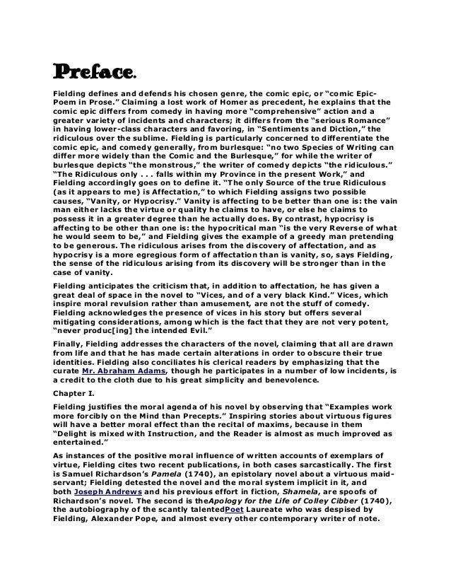 Preface of joseph andrews