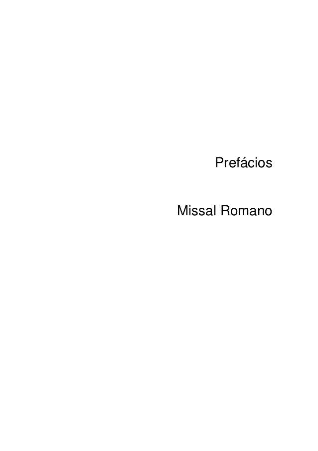PrefáciosMissal Romano