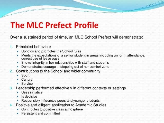 a prefect application letter