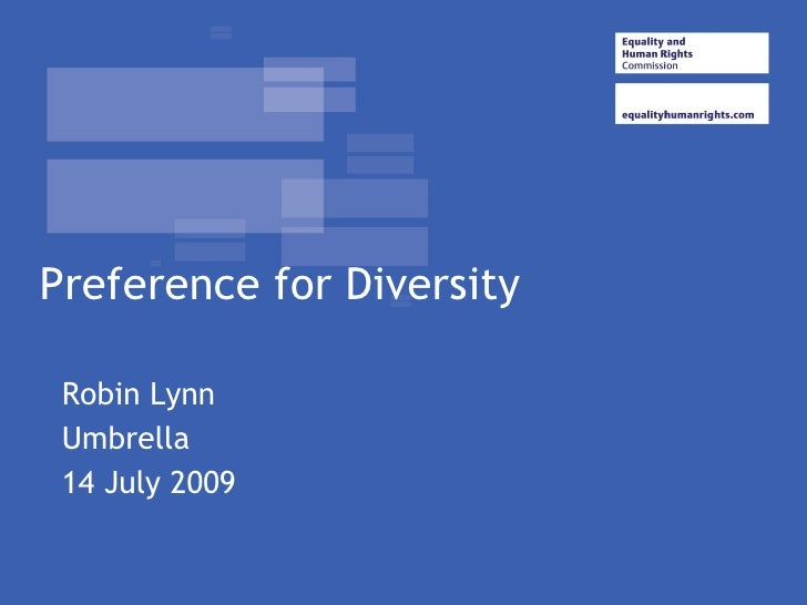Preference for Diversity