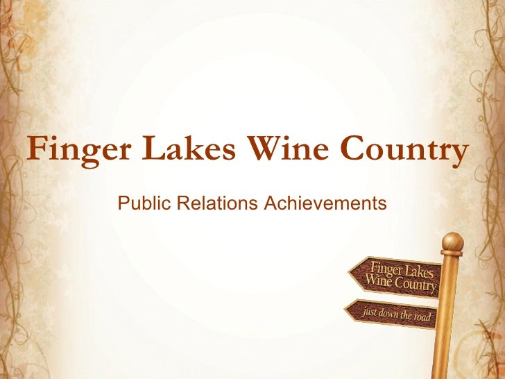 Finger Lakes Wine Country    Public Relations Achievements