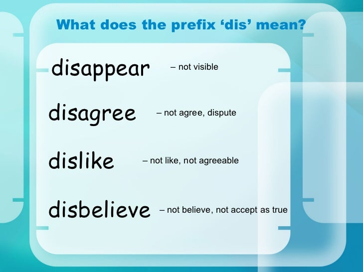 Prefix Dis Meaning Related Keywords & Suggestions - Prefix Dis Meaning ...