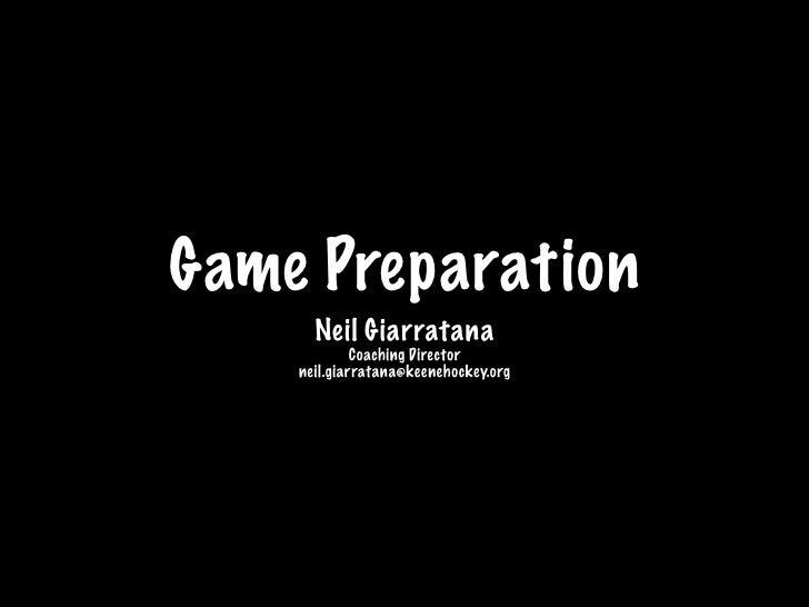 Pregame Preparation