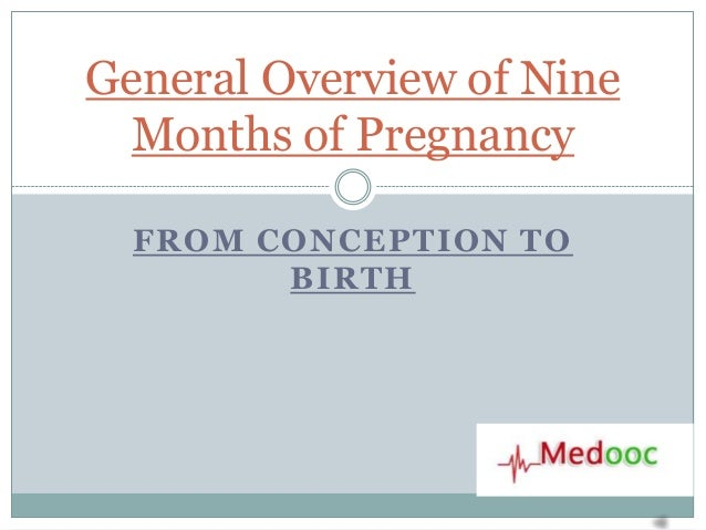 General Overview of Nine  Months of Pregnancy  FROM CONCEPTION TO        BIRTH