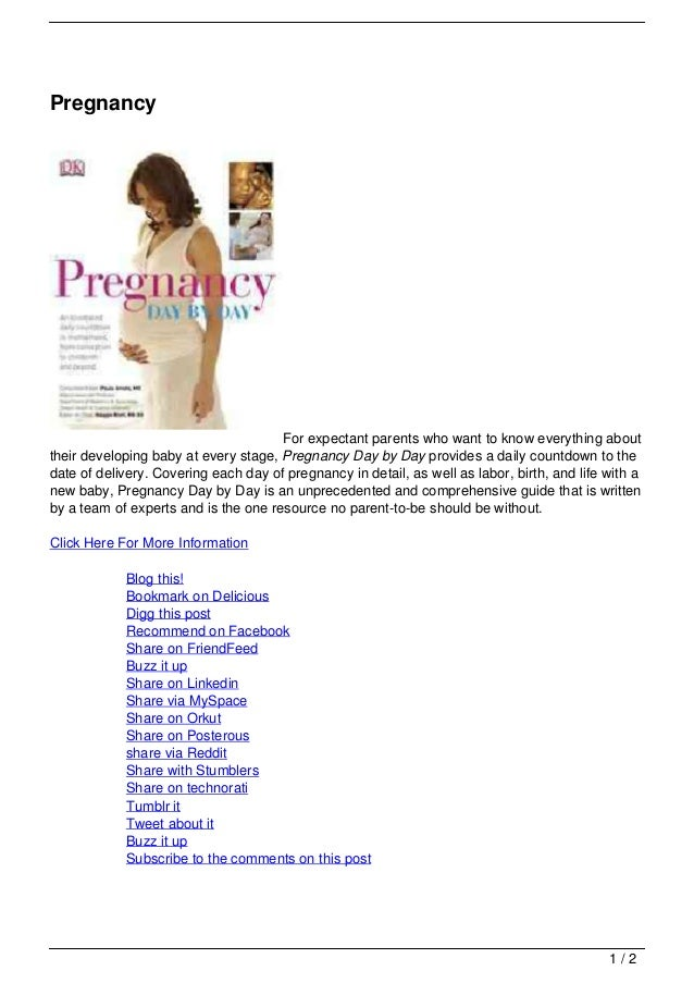 Pregnancy                                      For expectant parents who want to know everything abouttheir developing bab...