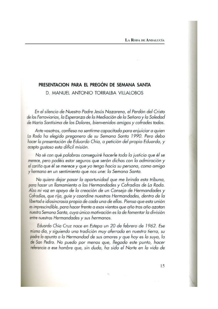 PREGON DE SEMANA SANTA 1990