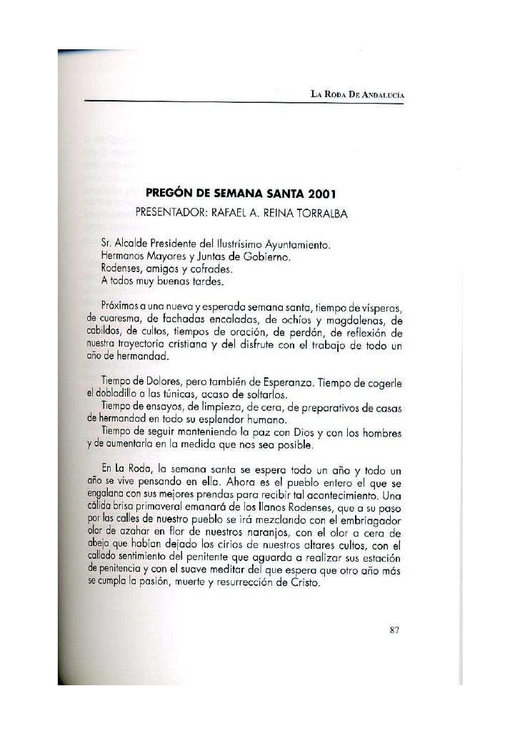 Pregón 2001 JOSÉ ANTONIO TORRALBA GARCÍA