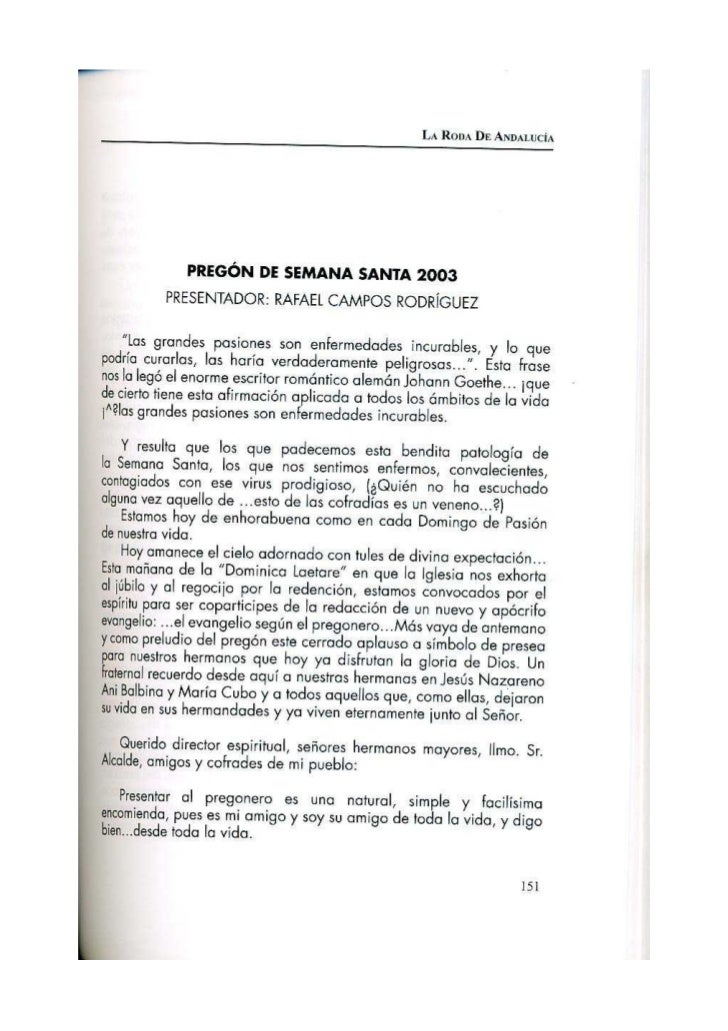 PREGÓN 2003 GUSTAVO A. GALLEGOS LÓPEZ