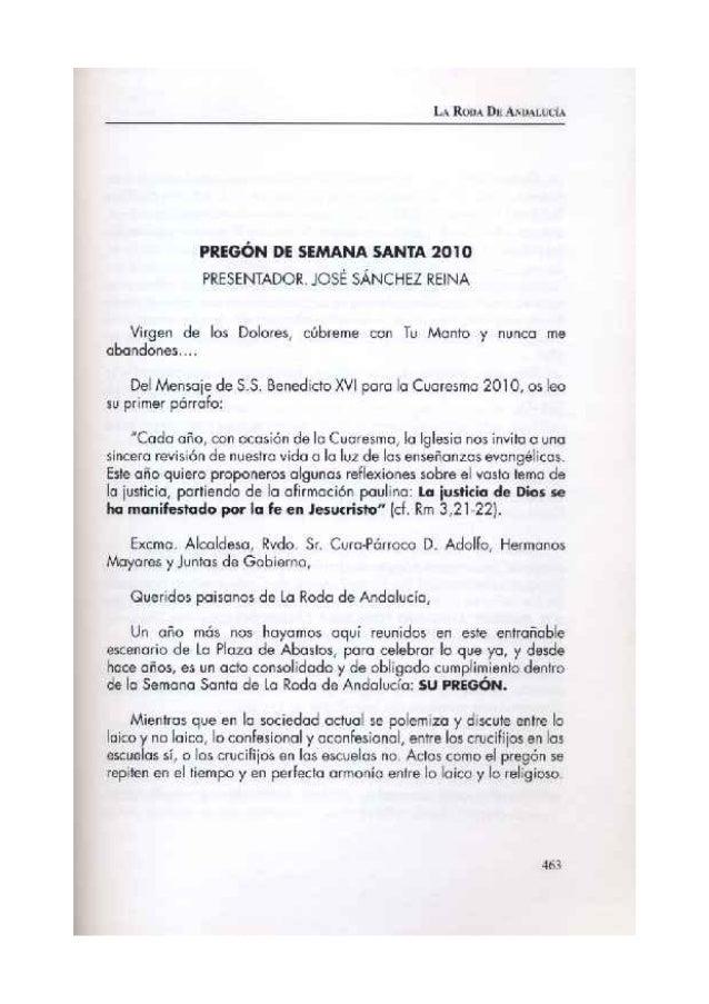 PREGON 2010 MANUEL ANTONIO TORRALBA CALDERON