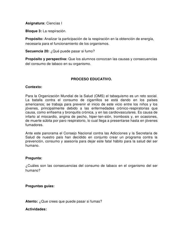 Asignatura: Ciencias IBloque 3: La respiración.Propósito: Analizar la participación de la respiración en la obtención de e...