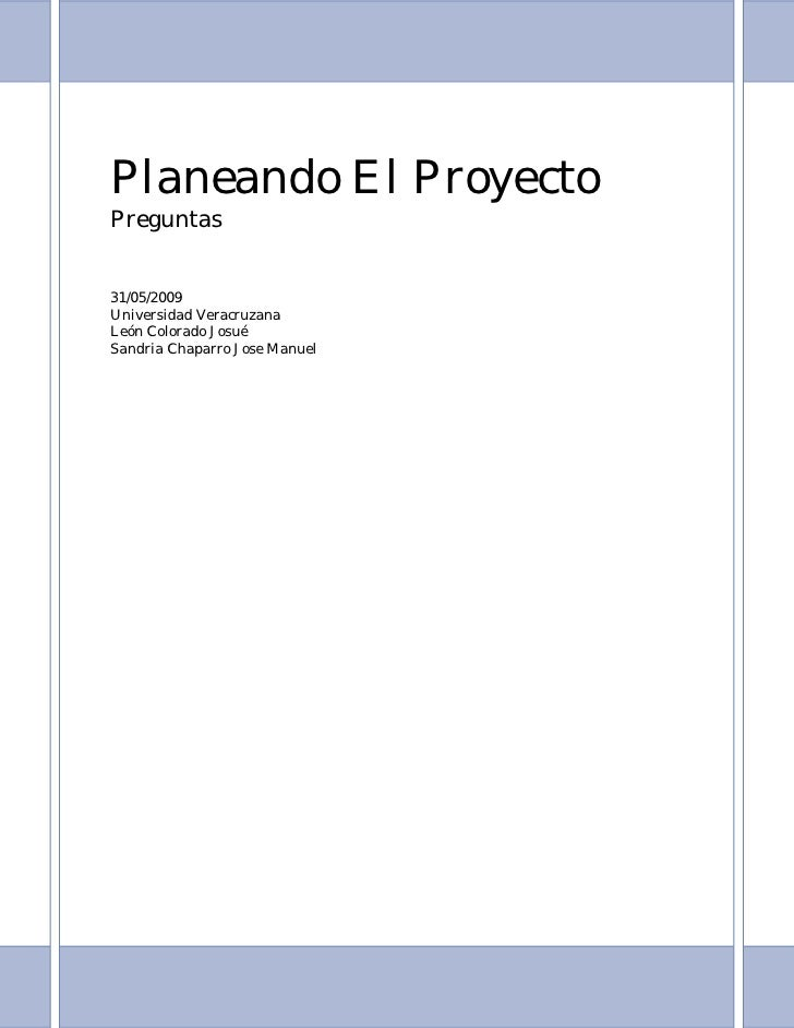 Information Systems Project Management - Planning The Project