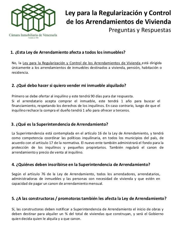 Preguntas y respuestas sobre la lai 2011