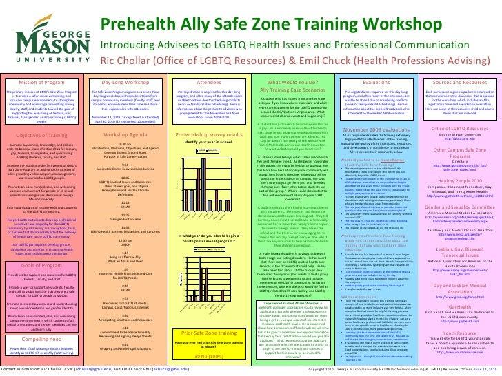 Prehealth ally safe zone training