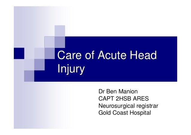 Prehospital care of severe head trauma abstract  manion