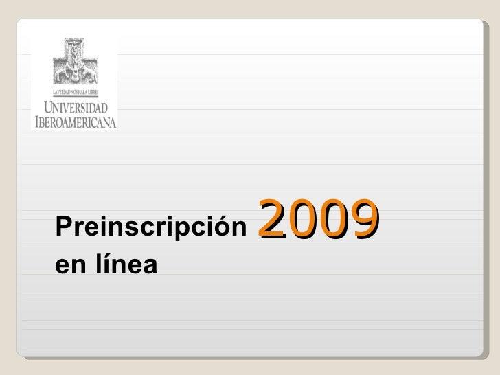 Preinscripcion Ver2009